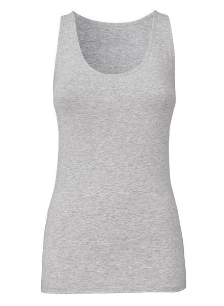 women's singlet real lasting cotton grey melange grey melange - 1000001959 - hema