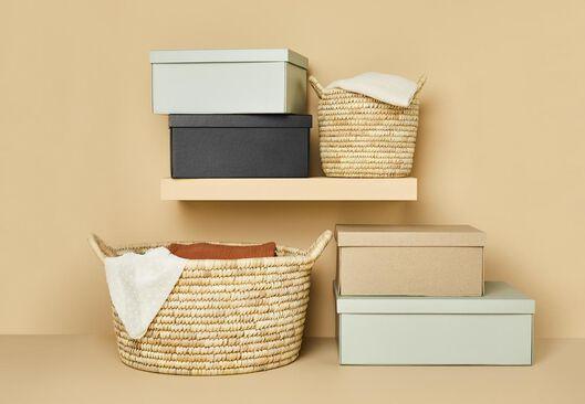 boîte de rangement en carton 15 x 24 x 33 cm - 39890025 - HEMA