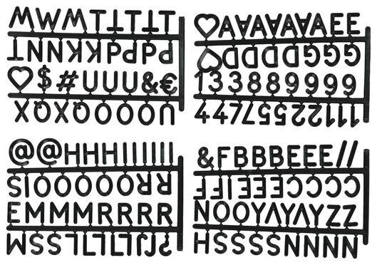Buchstaben für Klappkisten, schwarz - 39821031 - HEMA