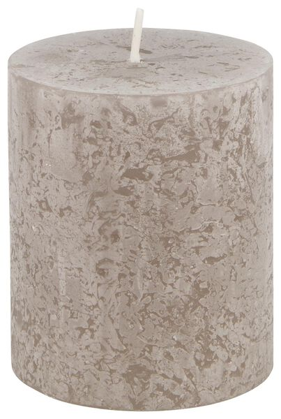 rustic candle - 7x8 - taupe - 13502433 - hema