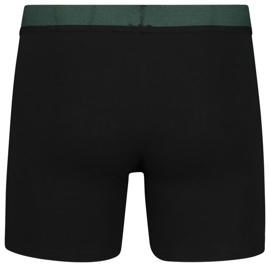2-pack men's boxer shorts long with bamboo black black - 1000018794 - hema