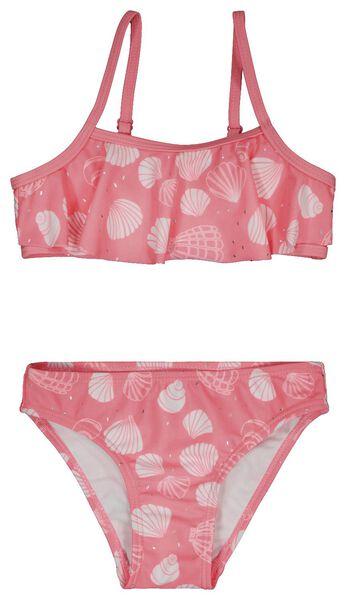 Kinder-Bikini mit Volant, Muscheln knallrosa knallrosa - 1000023859 - HEMA