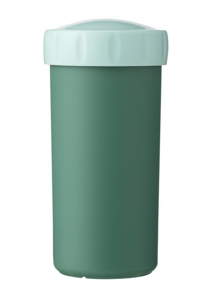 drinking cup with lid 300 ml green - 80630568 - hema