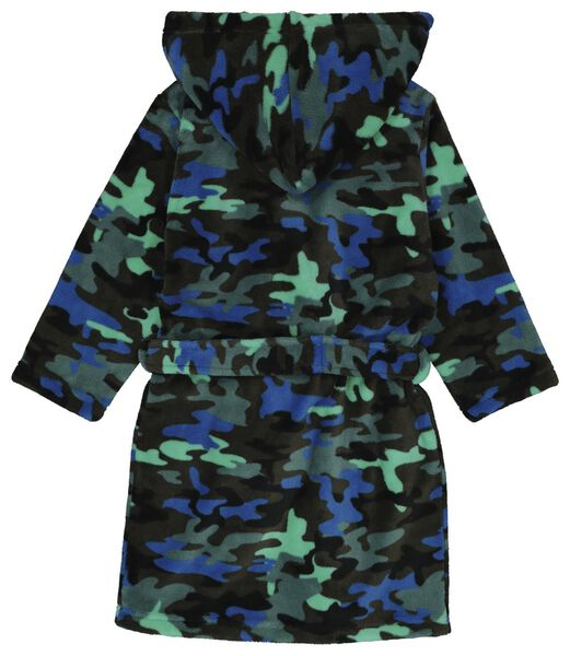 children's bathrobe camouflage green green - 1000019479 - hema