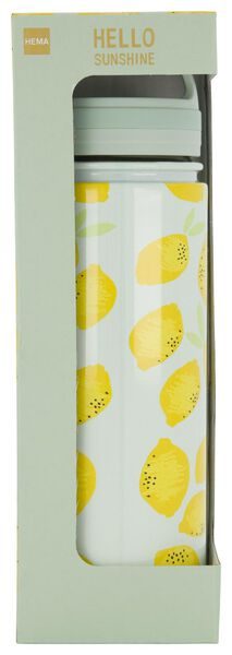 bouteille isotherme 500ml inox citron - 61140137 - HEMA