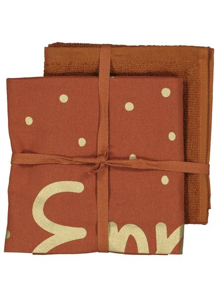 2 tea- and kitchen towels - enjoy - 5400158 - hema