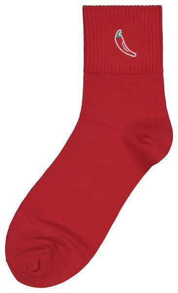 Socken, Größe 42-46, Hot, Peperoni, rot - 61140087 - HEMA