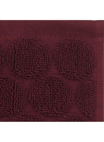 guest towel - heavy quality -  bordeaux dot dark red guest towel - 5220001 - hema