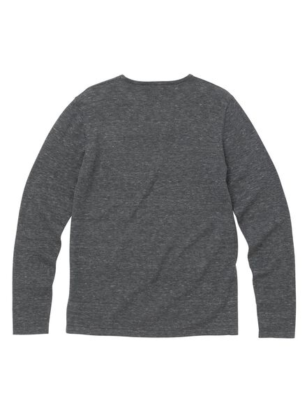 men's sweater grey melange grey melange - 1000005876 - hema