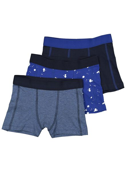 3-pack children's boxers blue blue - 1000014604 - hema