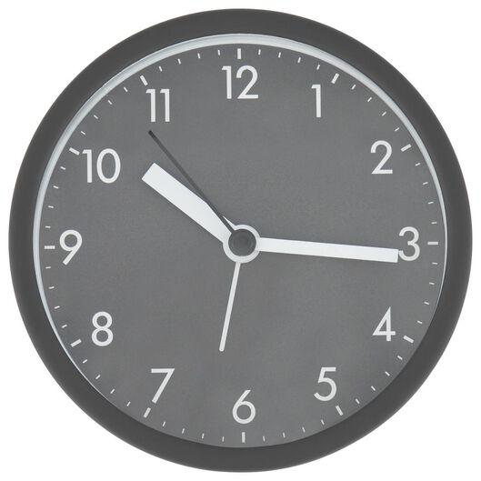 réveil analogique Ø 10 cm gris foncé - 13720135 - HEMA