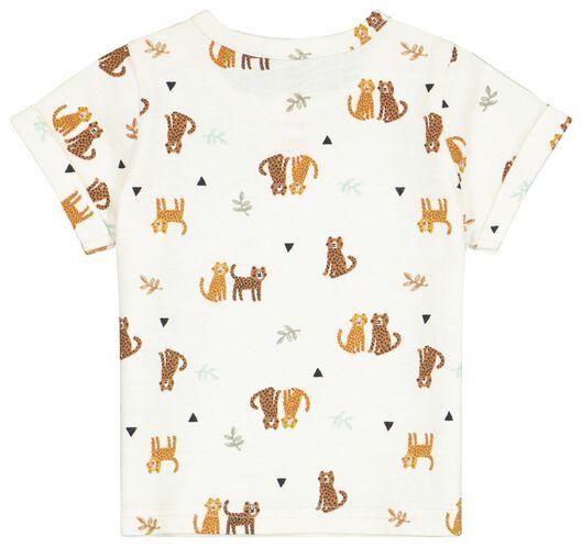 Newborn-T-Shirt, Leopardenmuster weiß weiß - 1000024085 - HEMA
