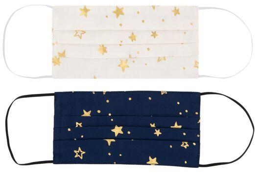 2 masques adultes coton étoiles - 12000026 - HEMA