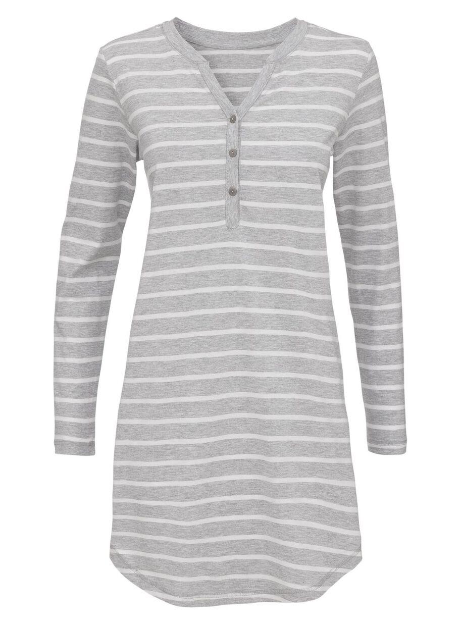 4c0c0717f2e Abbildungen Damen-Nachthemd, Baumwolle hellgrau hellgrau - 1000012245 - HEMA
