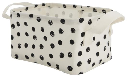 canvas basket 17x22x12 dots - 39821108 - hema