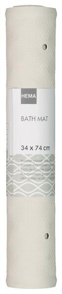 tapis de bain 34x74 caoutchouc antidérapant blanc - 80380014 - HEMA