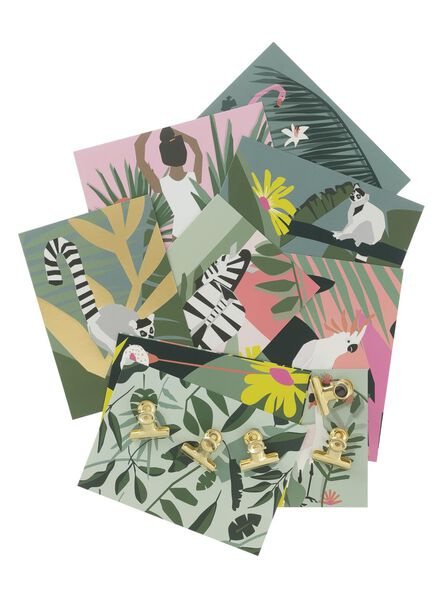 10-pack decorative cards with magnetic clips - 60700440 - hema
