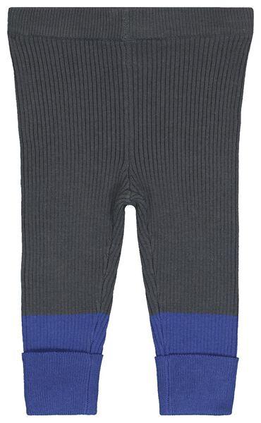 Baby-Leggings, gestrickt dunkelgrau dunkelgrau - 1000020495 - HEMA