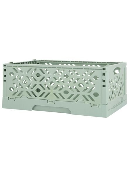 folding crate recycled - 24 x 16 x 9.5 cm - mint green mint green 24 x 16 x 9,5 - 39892911 - hema