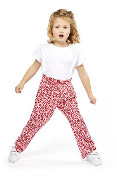 children's trousers red red - 1000018994 - hema