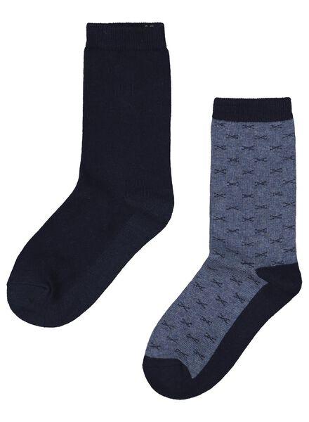 2er-Pack Thermo-Kinder-Socken blau blau - 1000016999 - HEMA