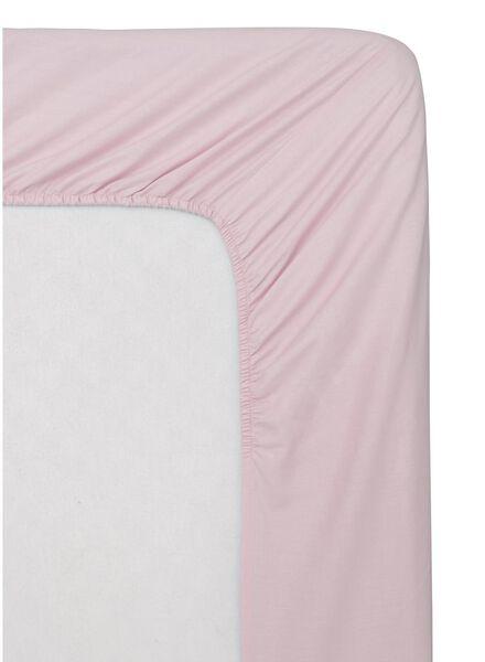 drap-housse - coton doux - 90x200 cm - rose - 5140015 - HEMA