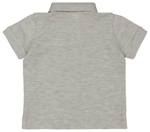 baby polo shirt grey melange grey melange - 1000018071 - hema