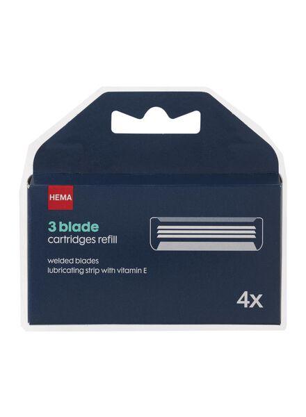 4 pack men's razors - 3 blades - 11700133 - hema