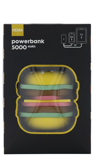 batterie de secours 5000mAh hamburger - 39500115 - HEMA