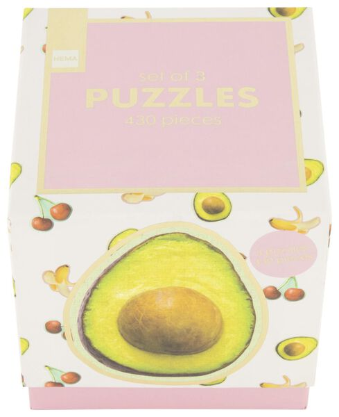 puzzel fruit - 3 stuks - 61122961 - HEMA
