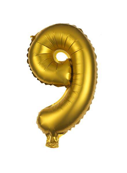 ballon alu 9 9 doré - 60800509 - HEMA