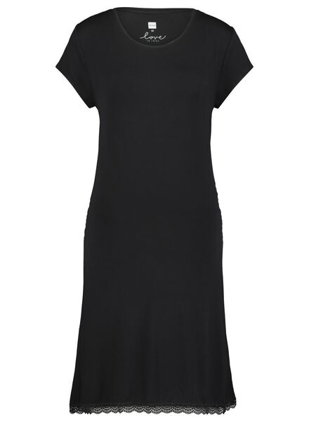 women's nightshirt black black - 1000017319 - hema