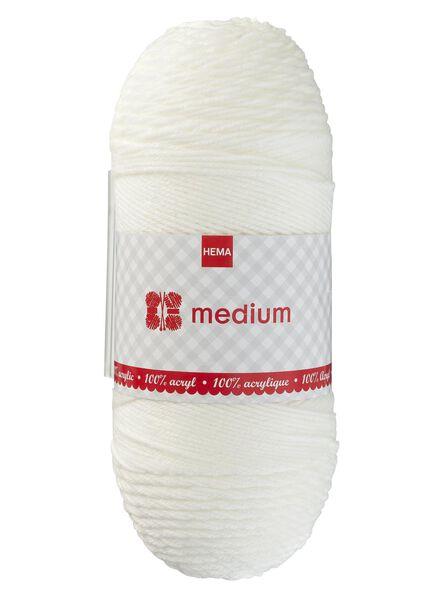 Strickgarn Medium – 200 g Medium, 200 g ecru - 1400178 - HEMA