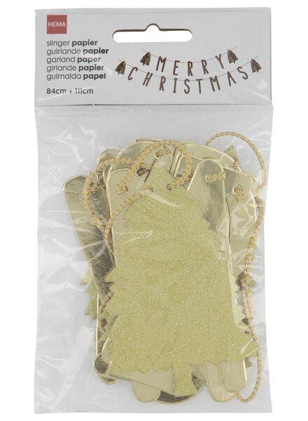 paper garland 195 cm merry christmas gold - 25104755 - hema