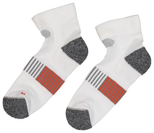 2-pack running socks white white - 1000019390 - hema