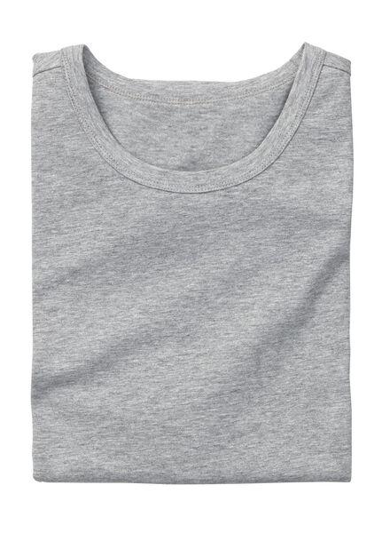 men's slim-fit T-shirt grey melange grey melange - 1000005974 - hema
