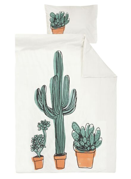 duvet cover - soft cotton - white cactus multi multi - 1000014116 - hema