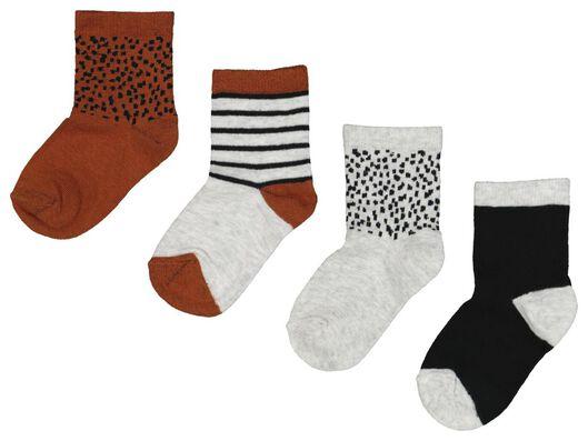 4-pack baby socks brown brown - 1000018738 - hema