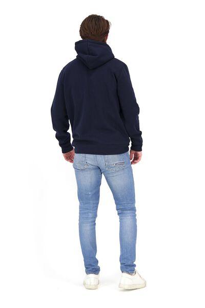 men's hooded sweater dark blue dark blue - 1000020077 - hema