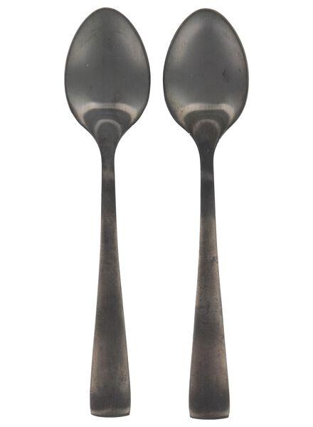 2 petites cuillères Copenhagen noir - 9905066 - HEMA