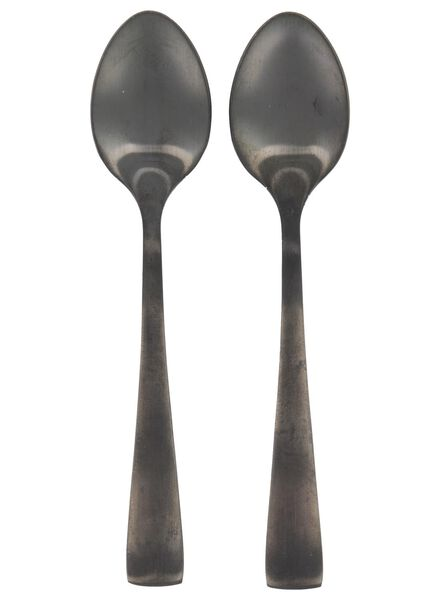 2 small spoons Copenhagen - black - 9905066 - hema