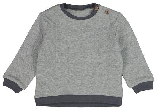 HEMA Baby-Sweatshirt, Gefüttert Graumeliert