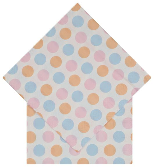 20er-Pack Servietten, 33 x 33 cm, Papier, Punkte - 14200463 - HEMA