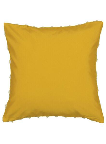 housse de coussin - 50 x 50 - jaune/blanc - 7392027 - HEMA