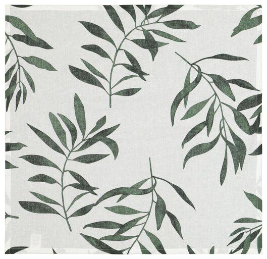 tea cloth 65x65 cotton - white with green leaves - 5410090 - hema
