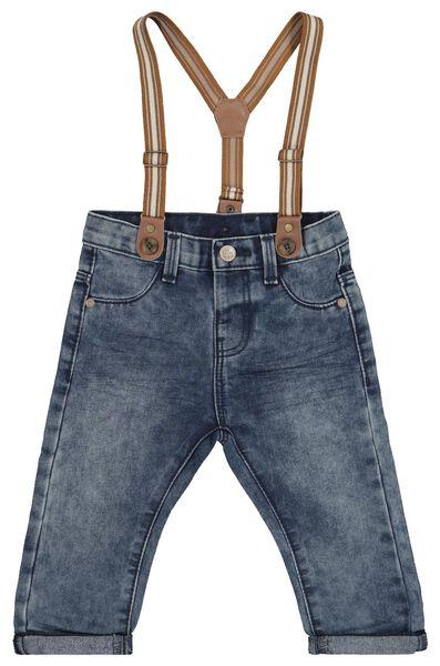 baby denim trousers with suspenders denim - 1000020443 - hema