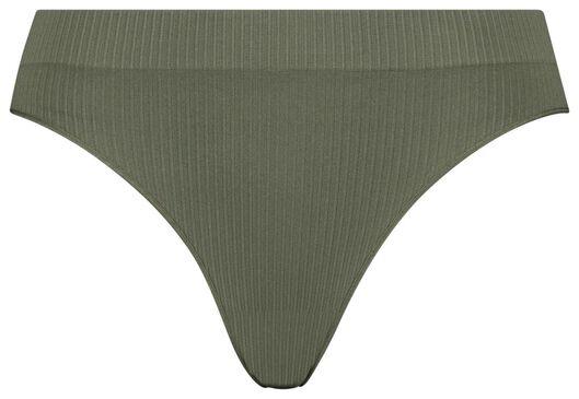 B.A.E. B.A.E. Slip Brésilien Femme Côtelé Sans Coutures Vert (vert)