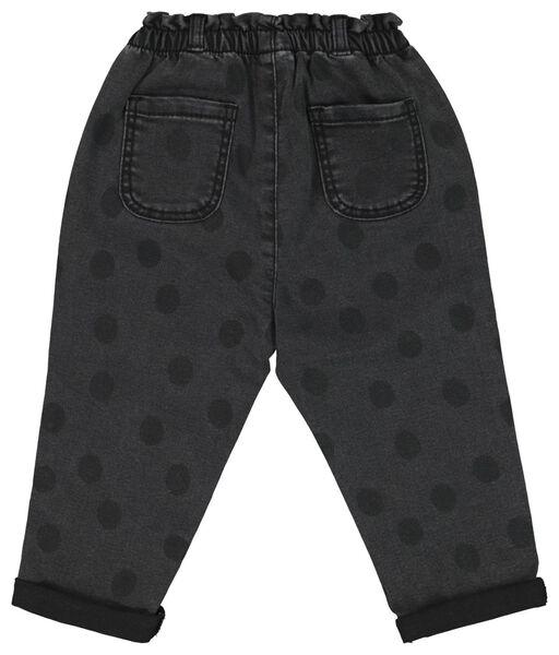 baby trousers denim dot black black - 1000020377 - hema