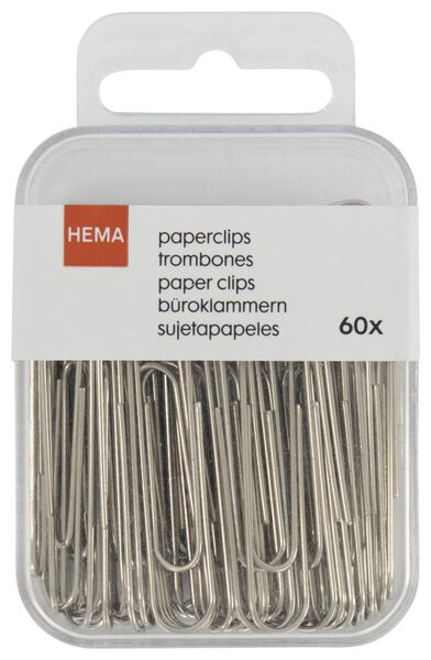 60 large paper clips - 14820044 - hema