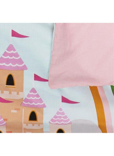 toddler duvet cover - 120 x 150 cm - castle pink - 5740017 - hema